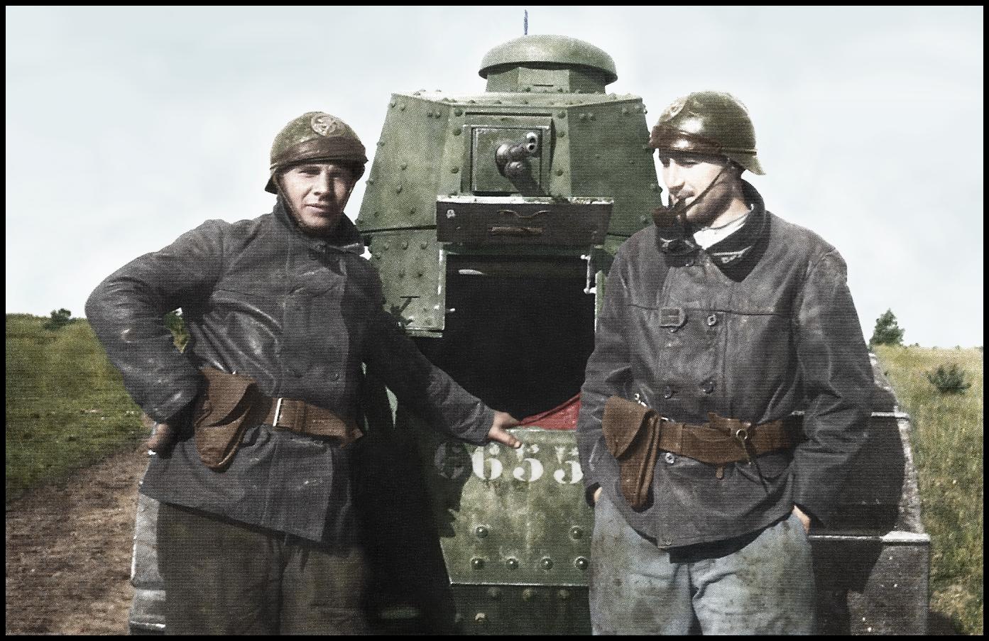 Французские танкисты и танки в цвете. ПМВ. ( 18 фото )