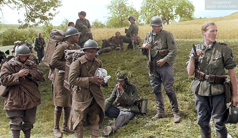 Война во Франции 1940 - 44 г. в цвете. ( 24 фото )