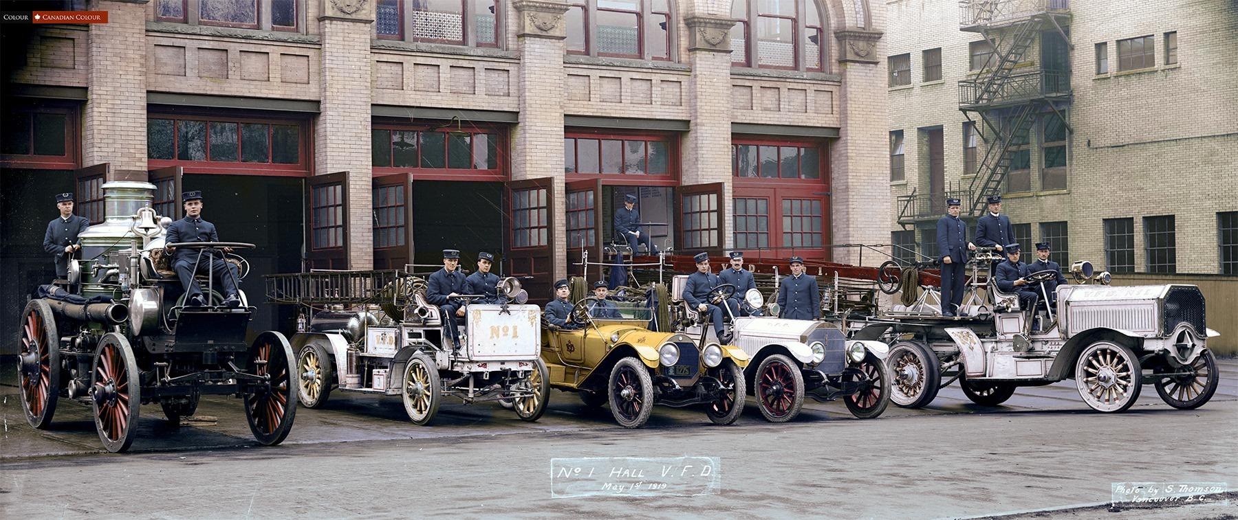 1900-1950 г.  Автомобили и водилы в цвете. ( 25 фото )