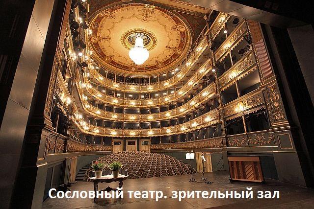 Сословный театр. зрительный зал