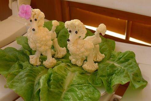 Собачки из цветной капусты-)))))