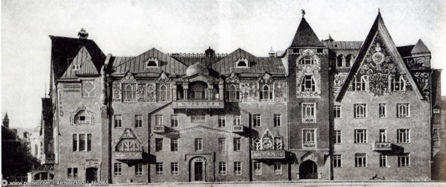 1906 Общий вид дома С. и З. Перцовых.