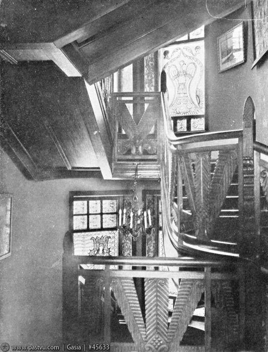 1907 Интерьеры Дома Перцовой З.О,(Лестница).