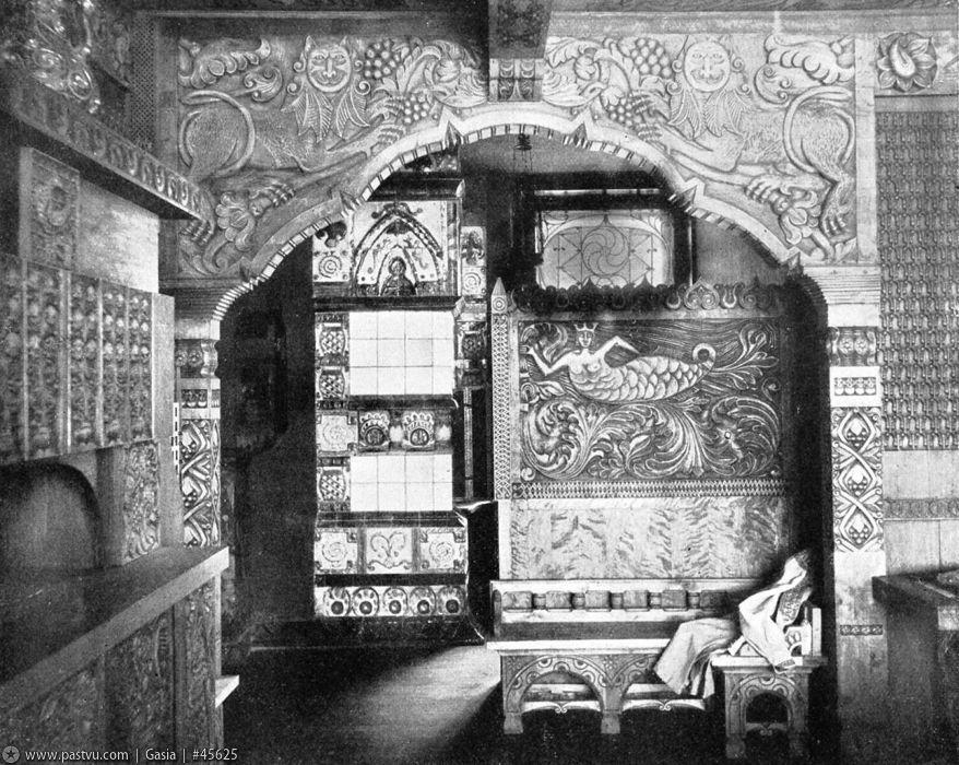 1907 Интерьеры Дома Перцовой.З.О. (Резная арка столовой).