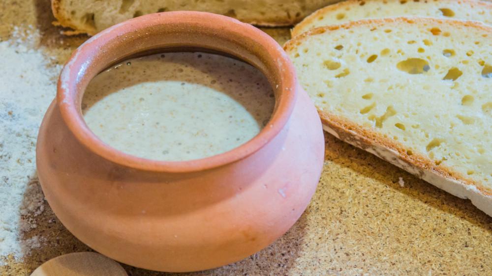 Как сделать закваску бездрожжевой хлеб