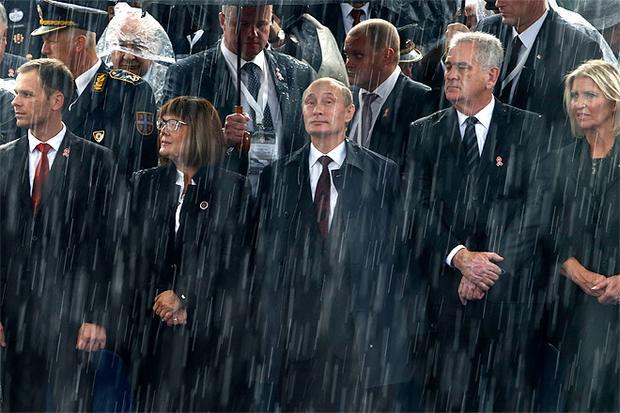 путин под дождем