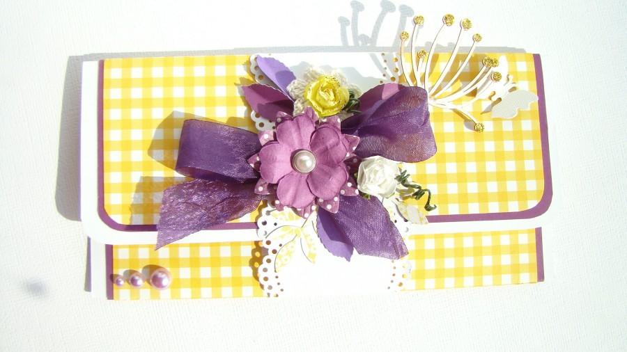 разобрать фиолетовый конверт 011