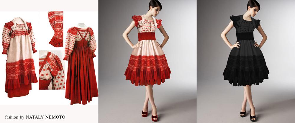 Русские народные платья в современном стиле