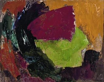Валерий Волков. Красное пятно. 1963-64 г. 343х269