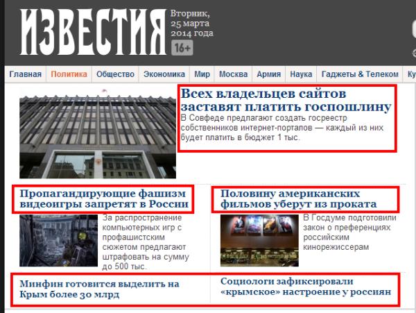Новости политики   Известия