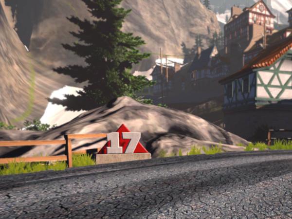 Alpe du Zwift corner marker