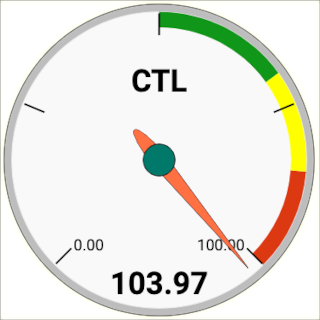 Record fitness (CTL) gauge