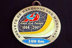 2006 ACP 200k Brevet medal