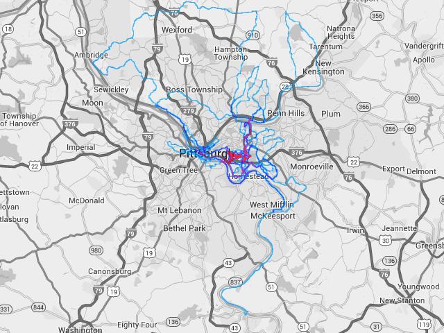 Ornoth's Pittsburgh cycling heatmap