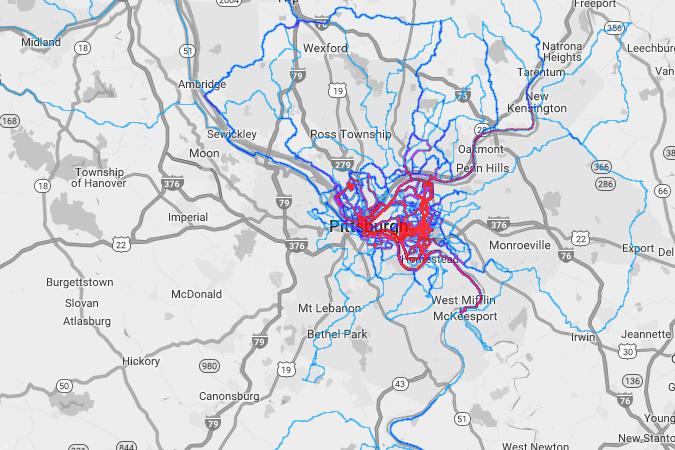 Pittsburgh heatmap