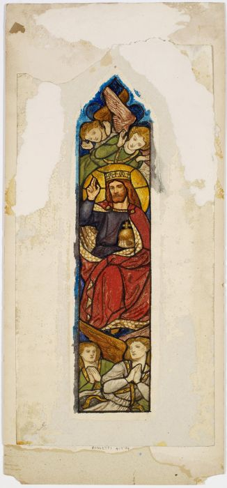 Stained Glass Design - Majesty, Christ in Glory, ca1861-62