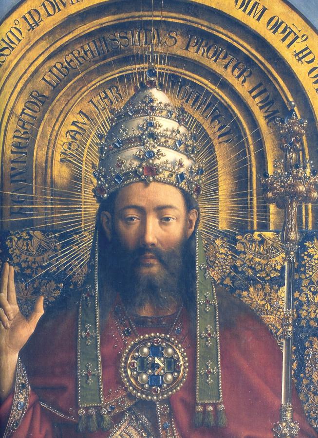 Гентский алтарь, Бог Иисус, 1432