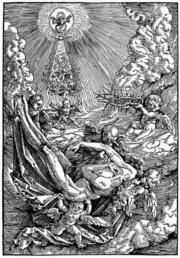 Тело Христа, вознесенное ангелами на облака
