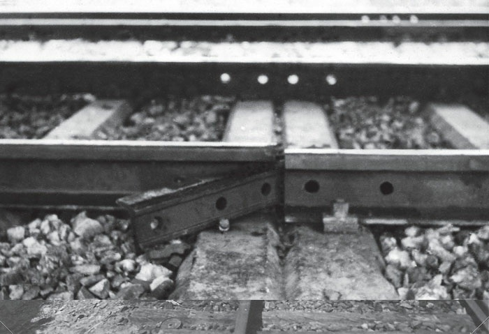 Французская  диверсия на железной дороге