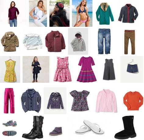 Женская и детская одежда