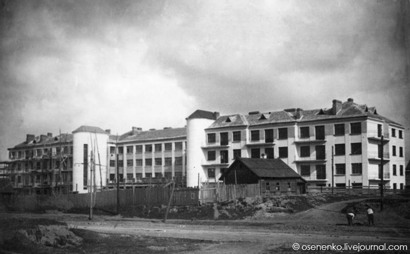 Жилой дом коммунального типа в Витебске (5-й коммунальный).  Фото 1929 г.