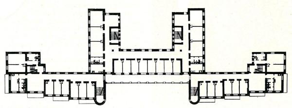 Жилой дом коммунального типа в Витебске (5-й коммунальный). План типового этажа