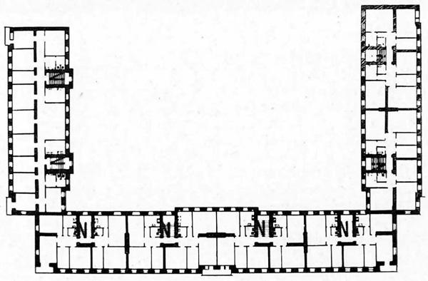 3-й коммунальный дом в Витебске.  План типового этажа