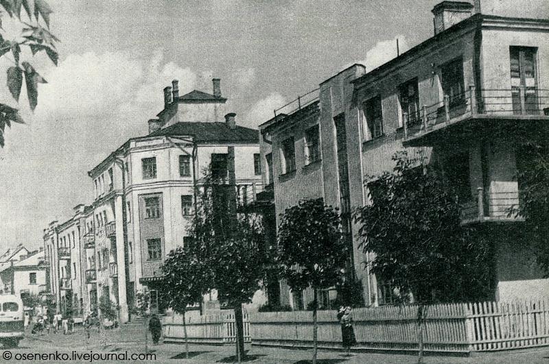 Дома коммунального типа в Борисове.  Фото 1950-х гг.