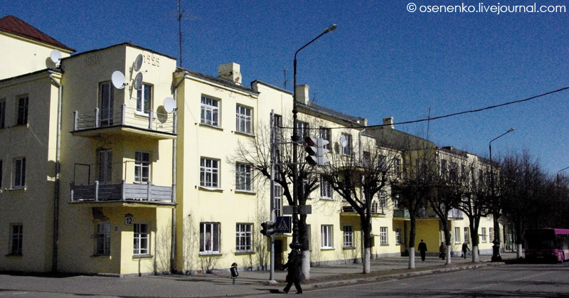Дом коммунального типа в Борисове. Фото 2012 г.