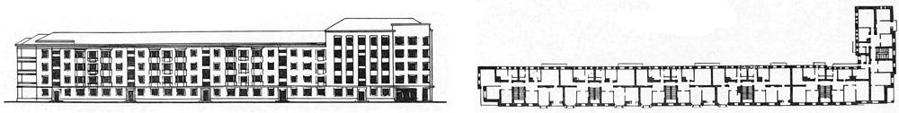 Дом Специалистов в Витебске.  Фасад, план типового этажа