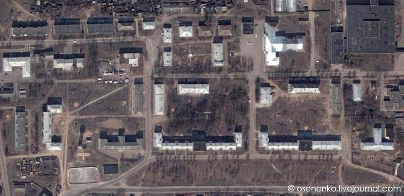 Ореховск.  Спутниковый снимок фрагмента поселка 2003 г.