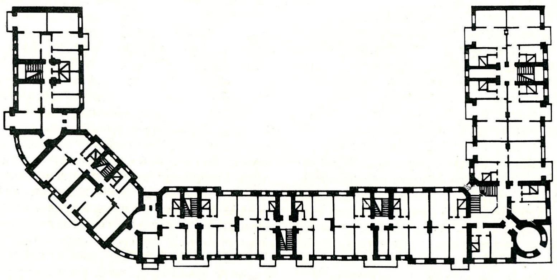 Гомель. Дом коммунального типа. План типового этажа.
