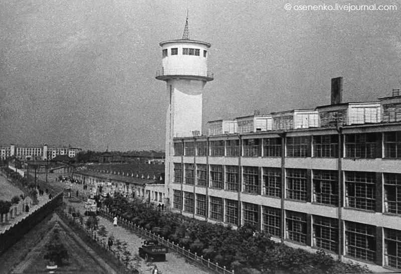 Фабрика «КИМ» и 5-й коммунальный дом в Витебске.  Фото 1940 г.