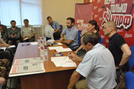Пресс-конференция Сергея Удальцова в Воронеже. 2012 год