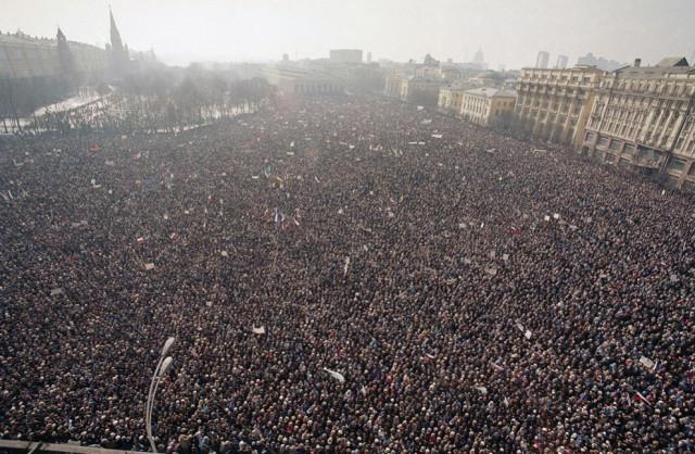 антиправительственный митинг в СССР