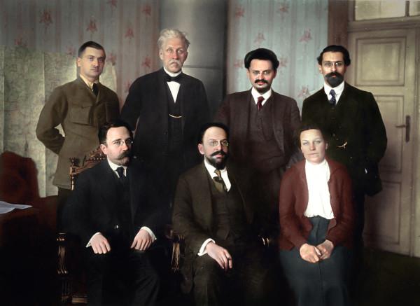 Советская делегация в Брест-Литовске 15 января 1918 года