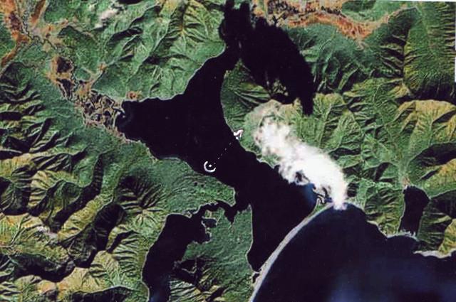 Озеро Калыгирь. Вид со спутника