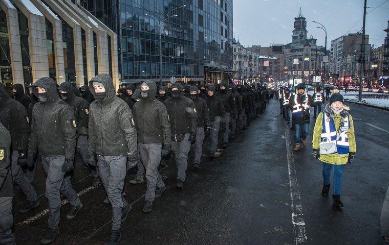 В Киеве приняли присягу «Национальные Дружины».