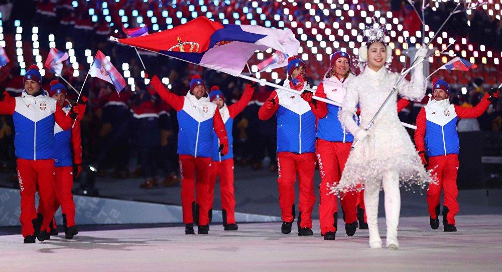 И вот Сербская национальная сборная появилась на олимпиаде!!!!!