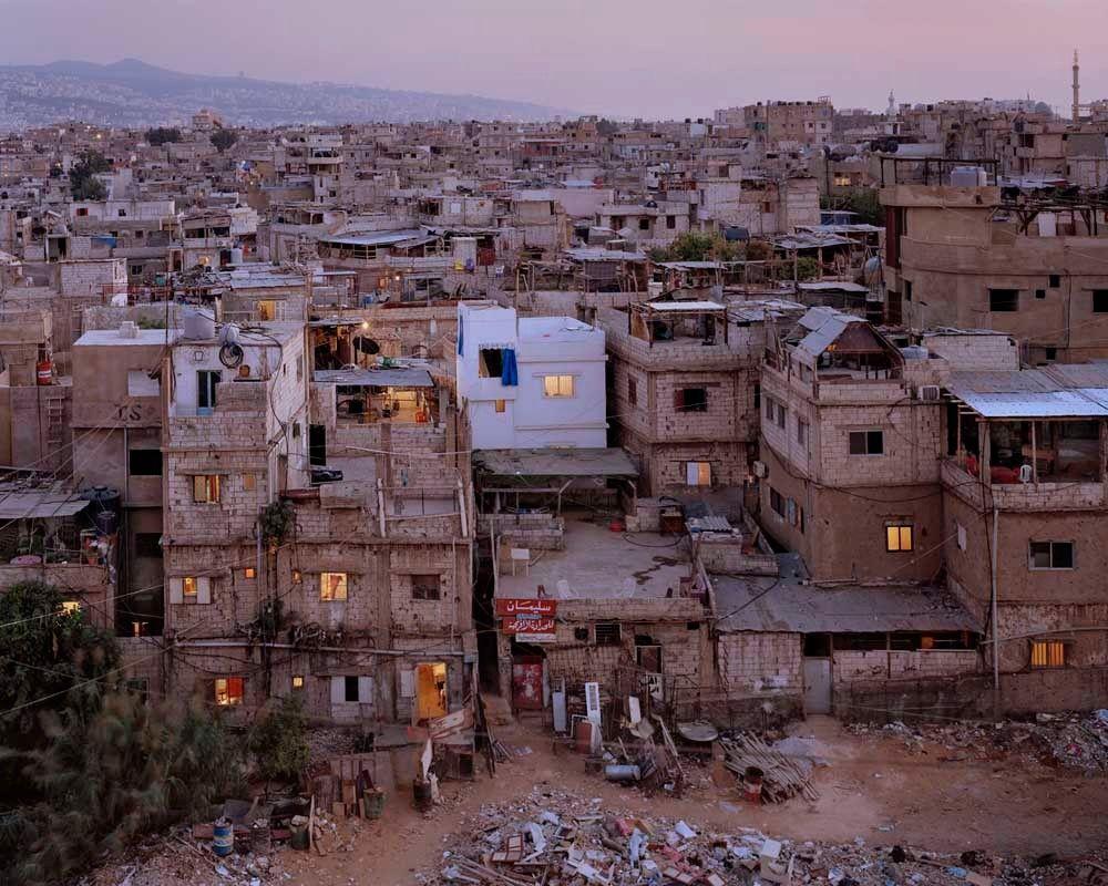 Лагерь беженцев в Бейруте.