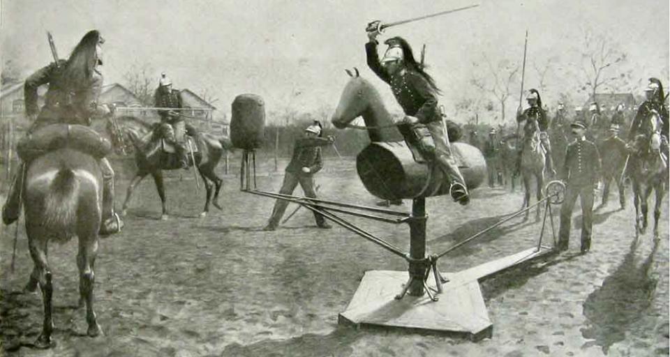 Тренировка кавалеристов: