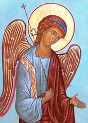 Ангел с синей ленточкой