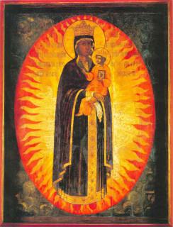 Икона «Благодатное Небо» в Леушинском монастыре