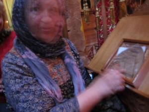 р.Б.Ольга - хранительница шапочки святой блаж. Матроны Московской со святыней
