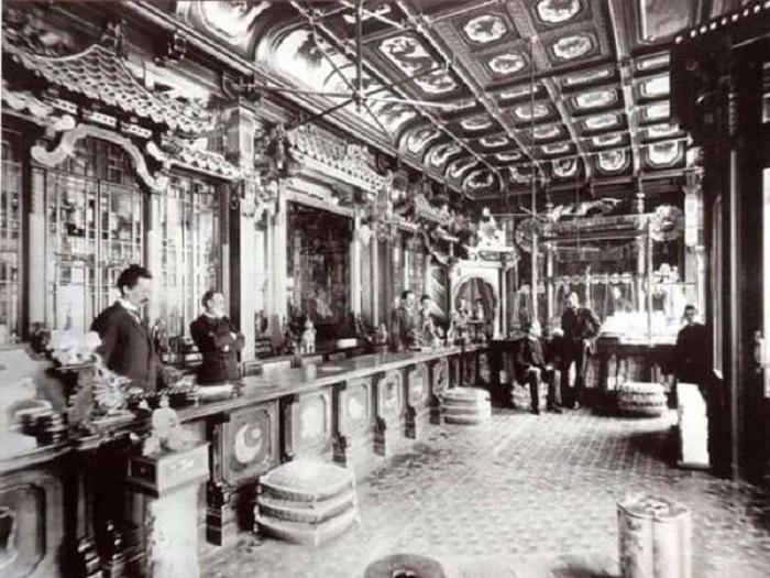 Интерьер чайного дома на Мясницкой
