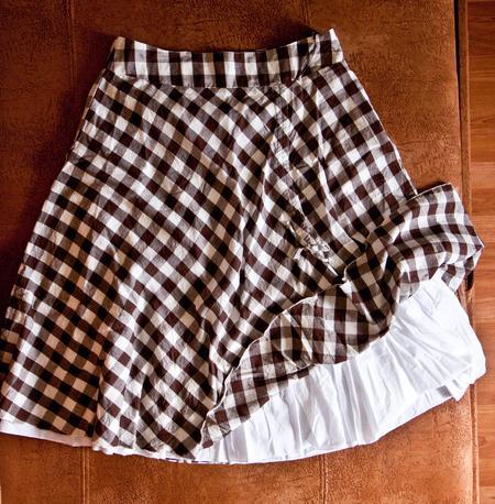 №7 Летняя клетчатая юбка-1