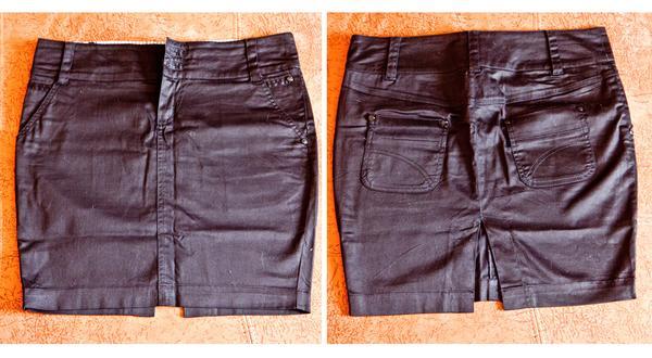№9 Чертная короткая юбка-коллаж 1