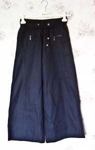 №1 Черные льняные брюки-1