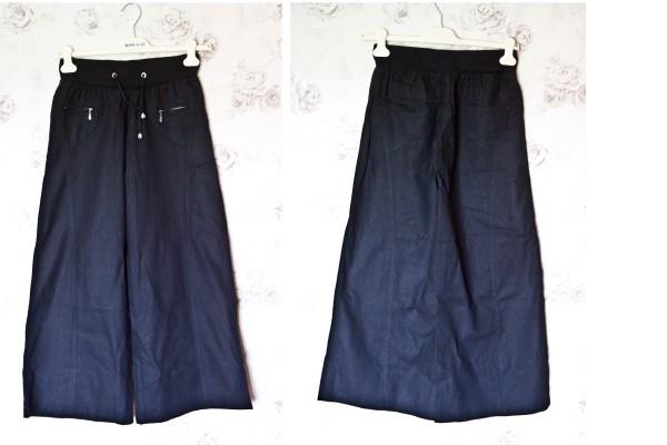 №1 Черные льняные брюки-коллаж 1
