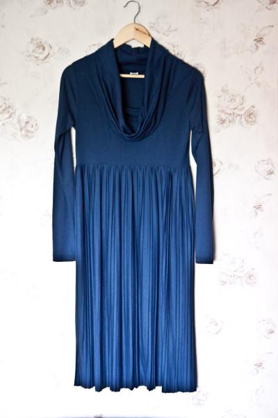№24 Темно-синее платье-1